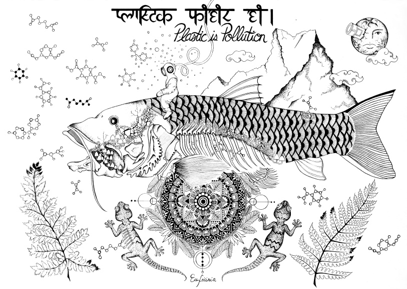 Golden Mahseer, Gecko & Machapuchare
